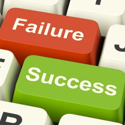 Success And Failure Computer Keys""