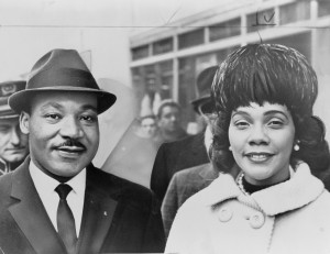 Martin Luther King Jr and his wife