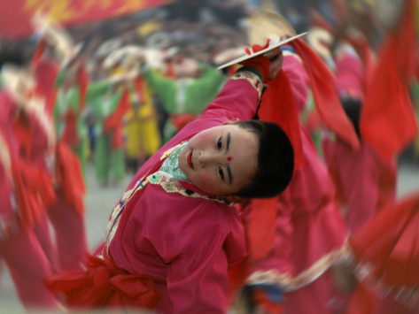Children Celebrating Chinese New Year