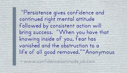 persistent quote