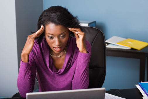 black-woman-stressed-with-computer