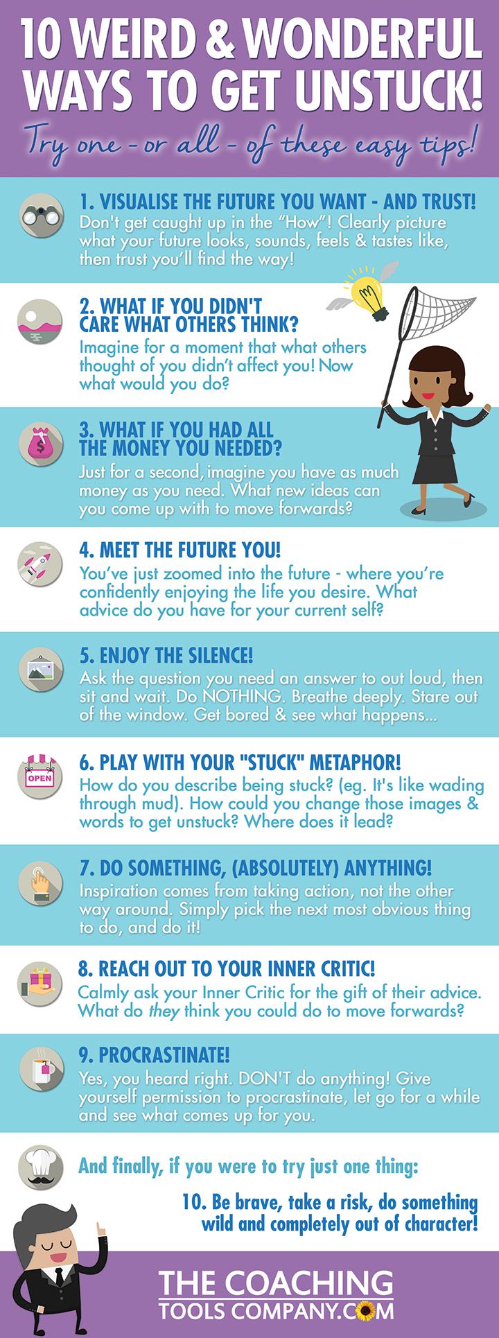 10 Ways To Get Unstuck Today
