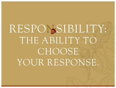 Take Responsibility For Your Life Today