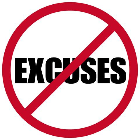 Your Excuses are Your Fears in Disguise