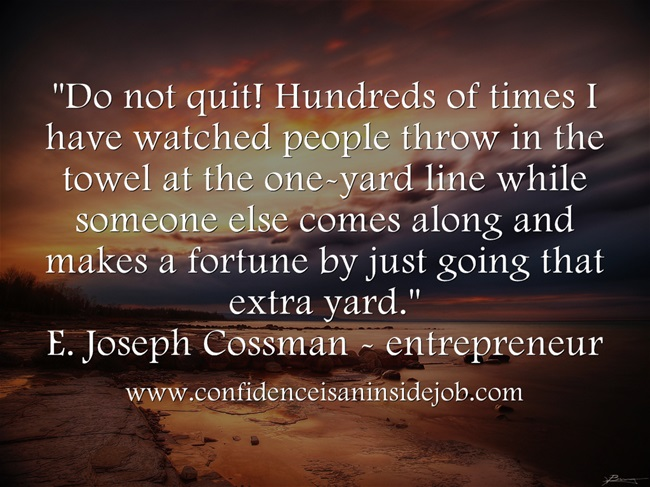Do not quit image quote