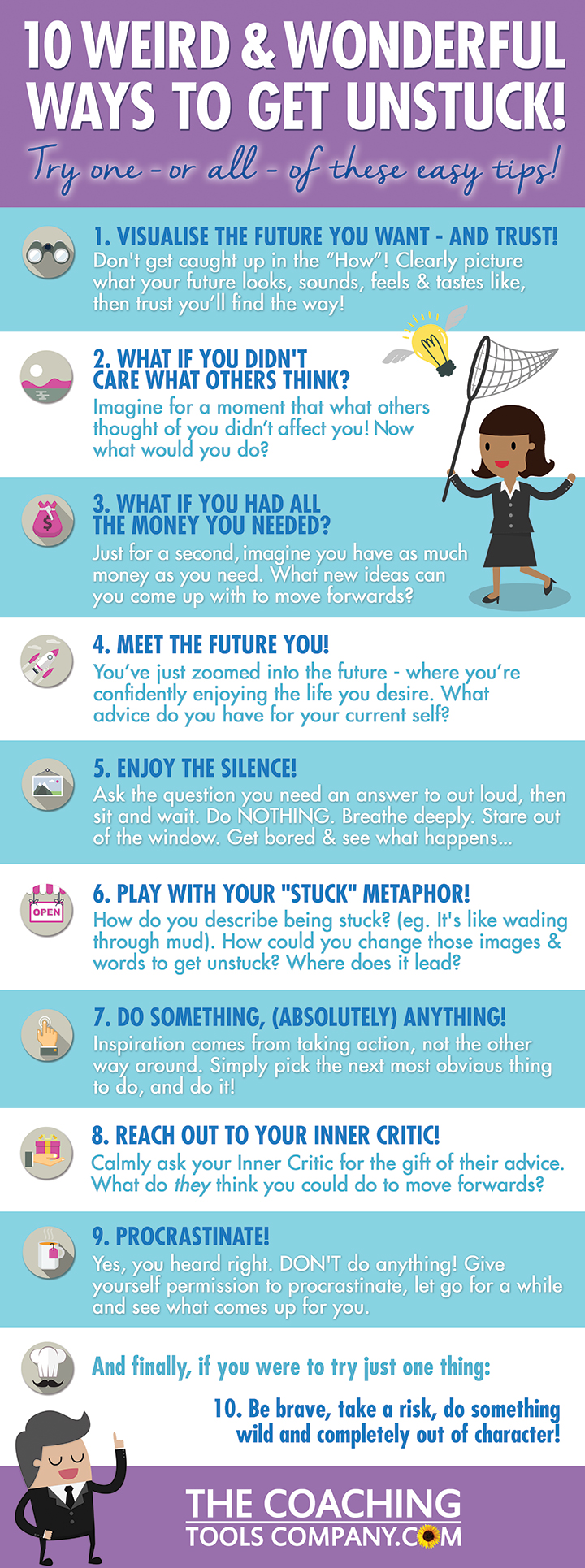10 Ways You Can Get Unstuck Today